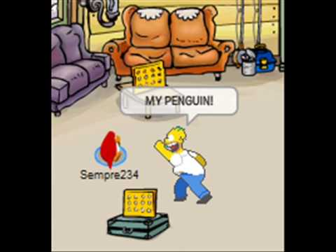 Homer Simpson In Club Penguin Part 2