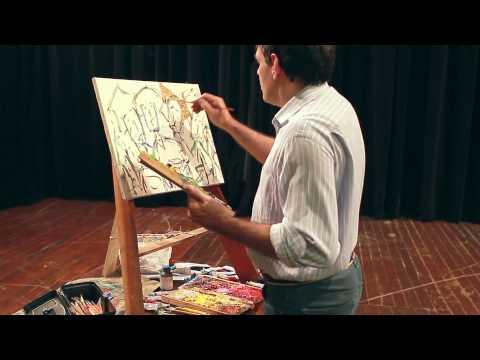 Luiz Bhittencourt pinta em teatro centenário em são Paulo