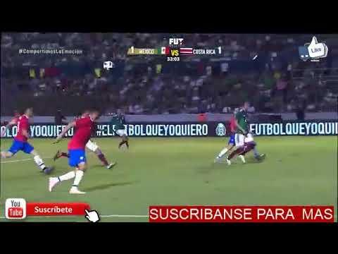 Gol de víctor guzmán México vs Costa Rica 1-1