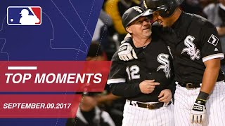 Abreu hits for the cycle plus nine moments from around the Majors, Sábado 09 de Septiembre 2017