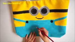 Thanks so much for watching and I hope you enjoyed!How to make Creative & Funny Minions bag at home?