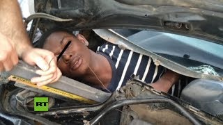 Rescatan a Migrantes que trataban de entrar a Europa ocultos en dobles fondos de autos