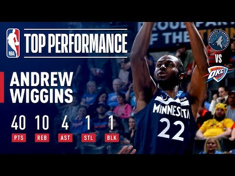 Video: Andrew Wiggins Drops 40 Points To Lead T'Wolves Past OKC | January 8, 2019