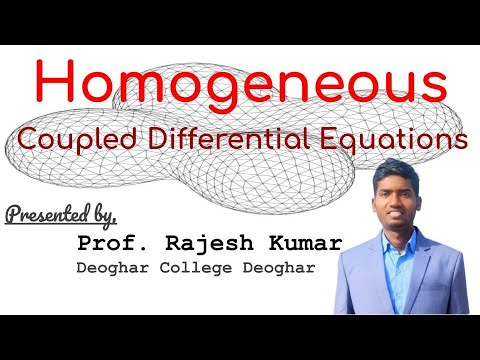 How to solve coupled differential equations?