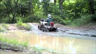 11. Can-am outlander 400 stock worn tires vs Honda rancher 420 new mudlite tires