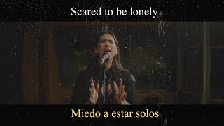Martin Garrix & Dua Lipa - Scared To Be Lonely (Acoustic) LYRIC VIDEO - Traducido a Español