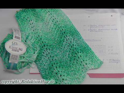 Tunesisch Häkeln – Schal im Muster Wellentraum – Veronika Hug