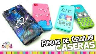 MEDIO✔ Fundas para Celular CASERAS / Homemade cellphone case - YouTube