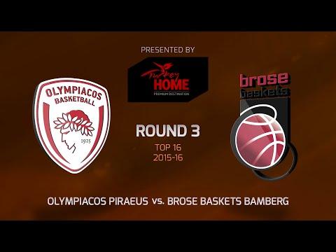Highlights: Top 16, Round 3, Olympiacos Piraeus 72-77 Brose Baskets Bamberg