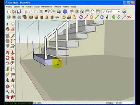 Video 10 de SketchUp: Crear una escalera