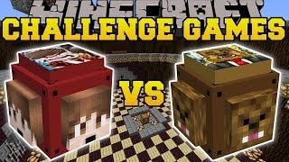 Minecraft: THEBAJANCANADIAN VS JEROMEASF CHALLENGE GAMES - Lucky Block Mod - Modded Mini-Game