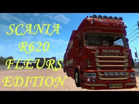 Scania R620 Fleurs v1.0