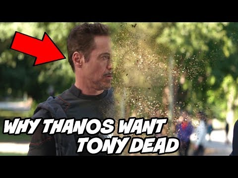Why Thanos wanted to kill Tony Stark Iron man in Avengers Infinity War and Avengers Endgame