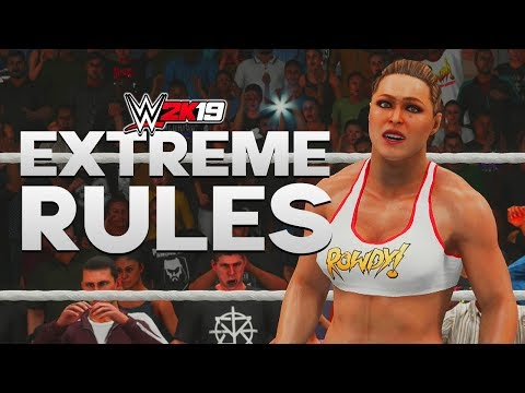 WWE 2K19   EXTREME RULES - Ronda Rousey vs Kairi Sane vs Lana