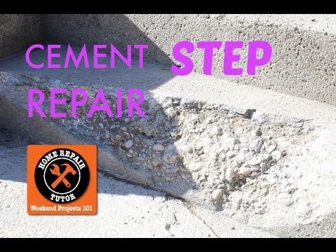 How to Repair a Cement Step