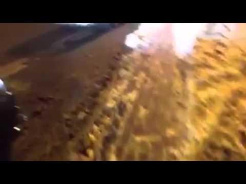 Сопровождение кортежа врезалось в гражданское авто