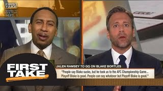 Stephen A. calls Jalen Ramsey out for not being honest about Blake Bortles | First Take | ESPN