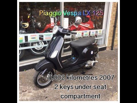Piaggio Vespa LX 125 Black 7,002 Kilometres 2007 Review and Start Up