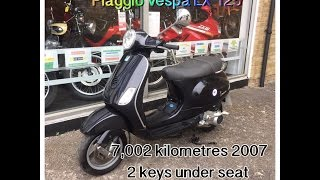 9. Piaggio Vespa LX 125 Black 7,002 Kilometres 2007 Review and Start Up