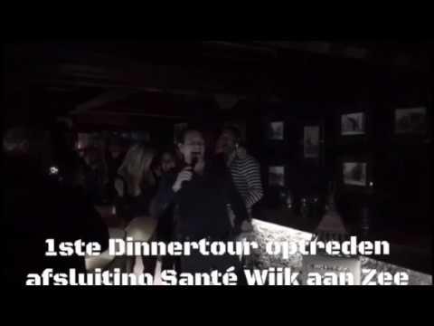Afsluiting 1e optreden Robert Leroy Dinnertour Wijk aan Zee