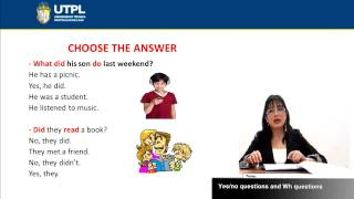 UTPL YES/NO QUESTIONS AND WH-QUESTIONS [(TODAS LAS CARRERAS)(INGLÉS II)]