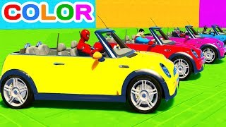 Video FUN LEARN COLOR MINI COOPER CARS w/ Superheroes for Toddlers 3D animation for Kids MP3, 3GP, MP4, WEBM, AVI, FLV November 2017