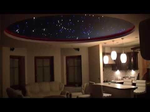 Oświetlenie salonu z kuchnią