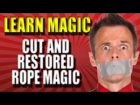 Learn To Do Magic Tricks – Easy Cut and Restored Rope