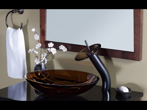Novatto Brown Glass Vessel Sink - TIS-168T - Tempered Glass Sink