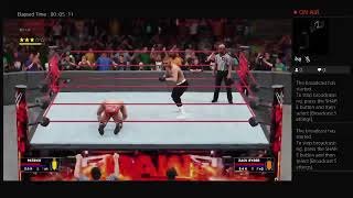 my career on WWE 2k 18