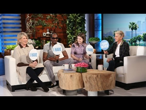 Never Have I Ever with Martha Stewart, Snoop Dogg and Anna Kendrick (видео)