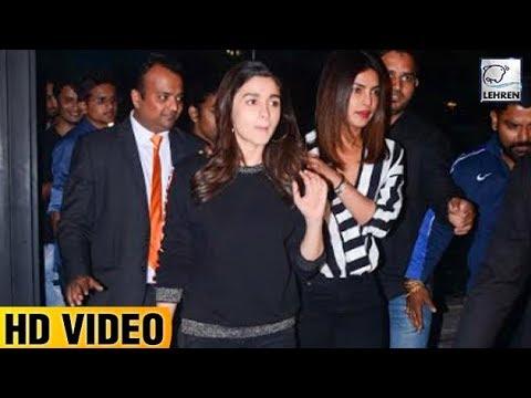 Priyanka Chopra & Alia Bhatt Go For A Dinner Date