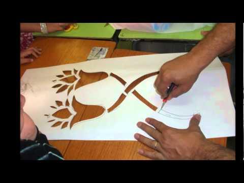 الفنان عصام ابوزيد (تعليم طابعة الاستنسل)