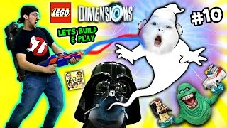 Lets Build & Play LEGO Dimensions #10: Duddy Traps Slimer! Ghost Busters Fun w/ Ecto-1