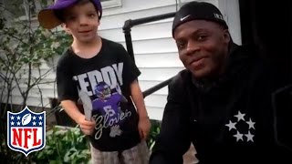 Hey Teddy: Bridgewater Raps With Young Vikings Fan | NFL by NFL