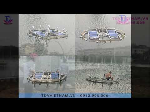 Đài phun nước phao nổi hồ Cây Đàn - Khu đô thị Dương Nội
