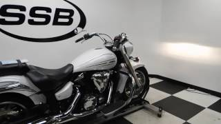 4. 2009 Yamaha Vstar 1300 White - used motorcycle for sale - Eden Prairie, MN