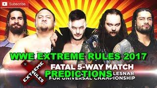 WWE Extreme Rules 2017 Roman Reigns vs. Seth Rollins vs. Finn Bálor vs. Bray Wyatt vs. Samoa Joe Fatal 5-Way Predictions WWE 2K17 WWE Extreme Rules 2017 Roma...