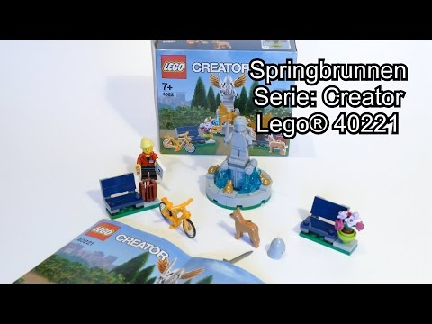 LEGO Springbrunnen Review (Set 40221 Creator Test deutsch 4K)
