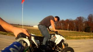 6. 1985 Yamaha Tri-Z 250 Vs. 2007 Polaris Outlaw 525 IRS Drag Races