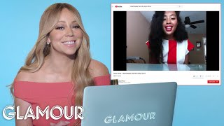Video Mariah Carey Watches Fan Covers On YouTube | Glamour download in MP3, 3GP, MP4, WEBM, AVI, FLV January 2017