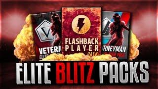 15x ELITE VARIETY BLITZ PACKS! Flashback,  Journeyman, Veterans! Madden Mobile 17