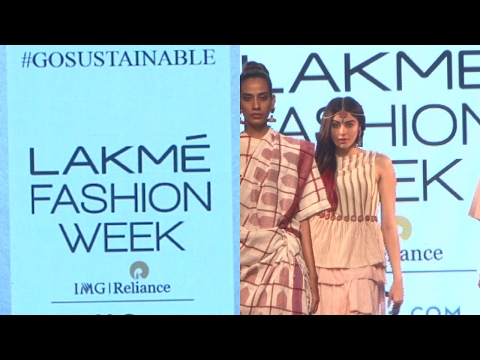 Adah Sharma As A Showstopper For Designer Galang Gabaan At Lakme Fashion Week Summer 2017