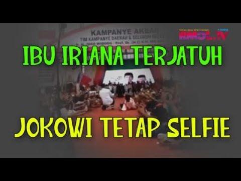 Ibu Iriana Jatuh, Jokowi Tetap Selfie