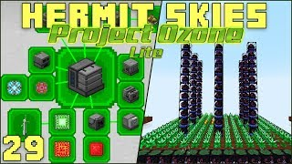 Hermit Skies 29 Biffa Base Tour & Mekanism Quests (Project Ozone Lite Skyblock Modded Minecraft)