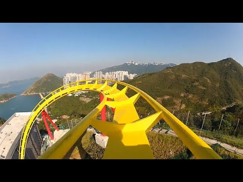 manege EXTRÊME ROLLER COASTER  __ accrochez vous __ most incredible video pov hd (видео)