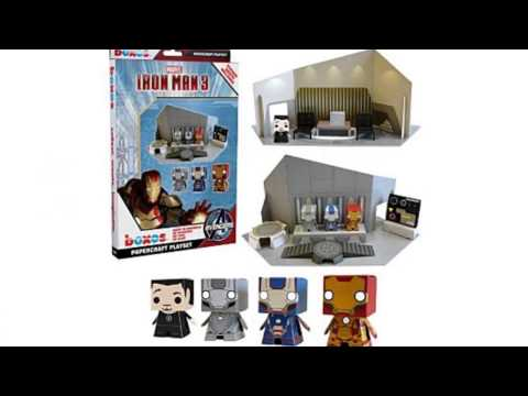 Video Marvel Iron Man Movie 3 Paper Craft now online at YouTube