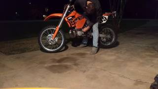 9. 2006 KTM 300 XC-W cold start and walk around for sale