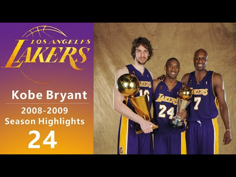 Kobe Bryant丨2008 2009 Season Highlights