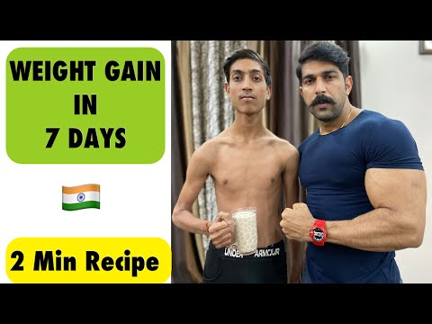 10 Kg Weight Gain - 2 Min Recipe | 10 Kg Weight Gain In A Month | Rubal Dhankar